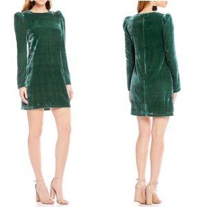 WAYF | Velvet High Neck Long Sleeved Dress